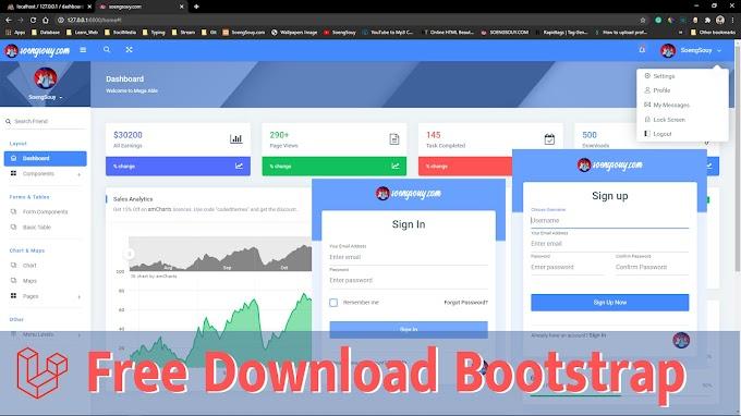 Demo Admin dashboard version 6 in Laravel
