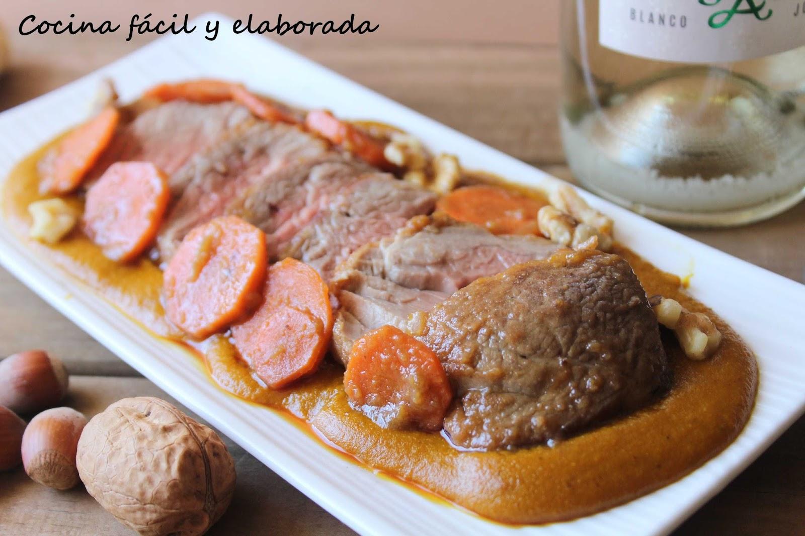 cocina facil y elaborada solomillo iberico con salsa de