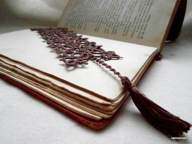 zakładka do książki -frywolitka czółenkowa