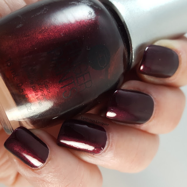 Burgundy-wine-nail-polish-with-red-shimmer