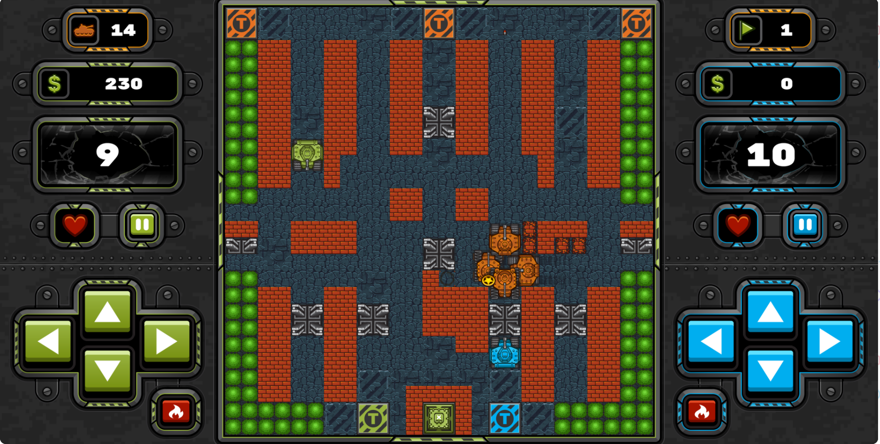 Tank Wars Base Defense Game