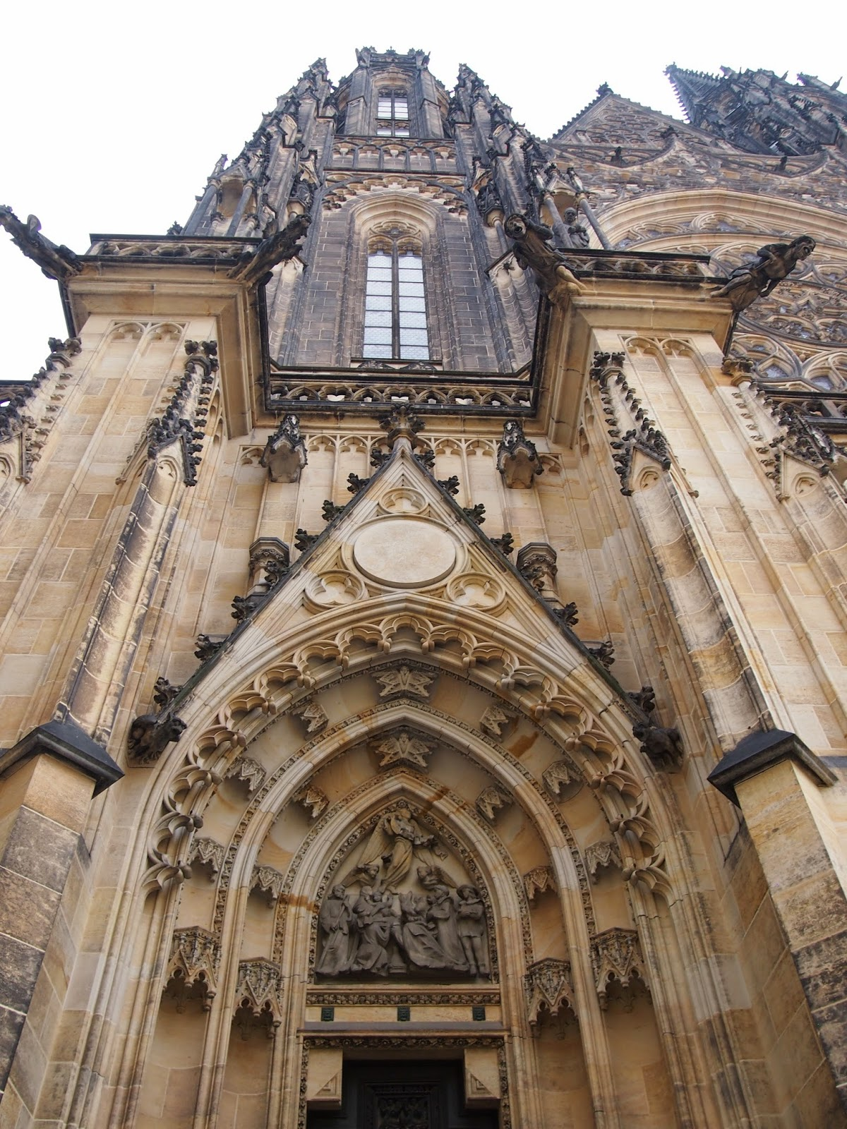 The outside of St. Vitus Cathedral