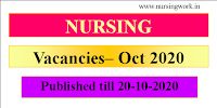 Nursing Vacacnies- Oct 2020