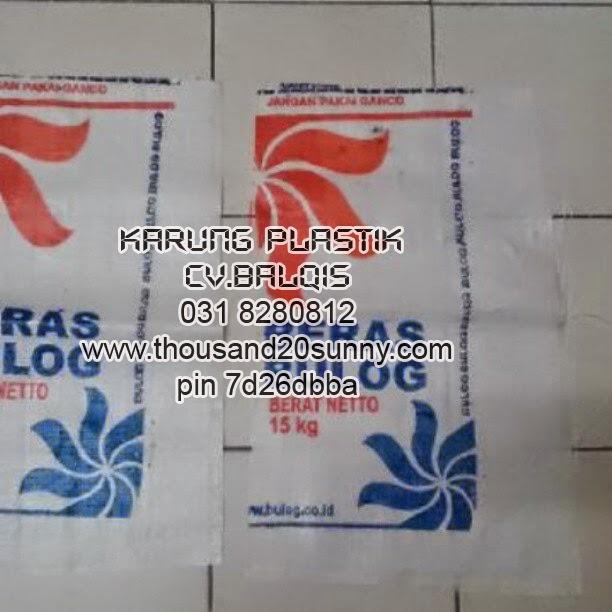 Jual karung Plastik Misprint Bulog Harga Rp. 870. 40x65 cm 11x11 Dinier 900