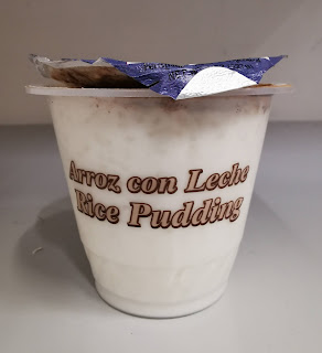 A side view of Margarita's Rice Pudding, from Dollar Tree