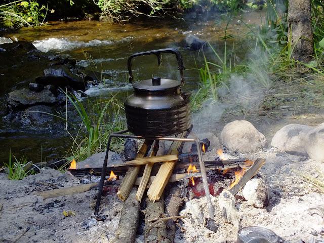 Греем воду для чая