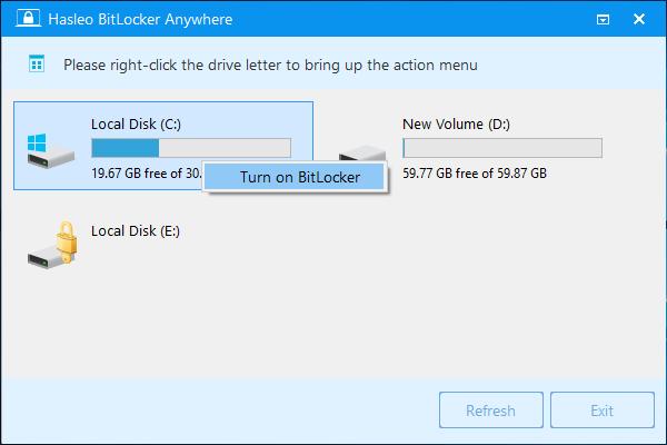 تحميل برنامج Hasleo BitLocker Anywhere 7.9 لتشفير قوي مصمم لحماية البيانات لوحدات التخزين