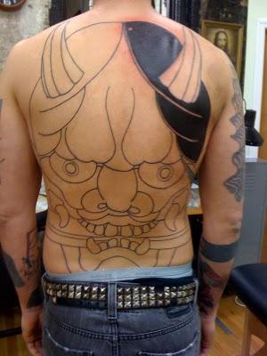 hannya tattoo mask session flyrite maykut jeb hair piece self