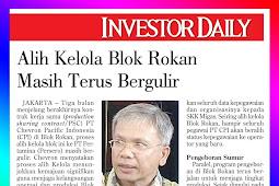 Transfer to Manage Block Rokan Still Rolling