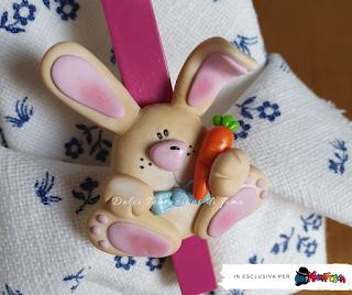 Coniglietto realizzato in fimo