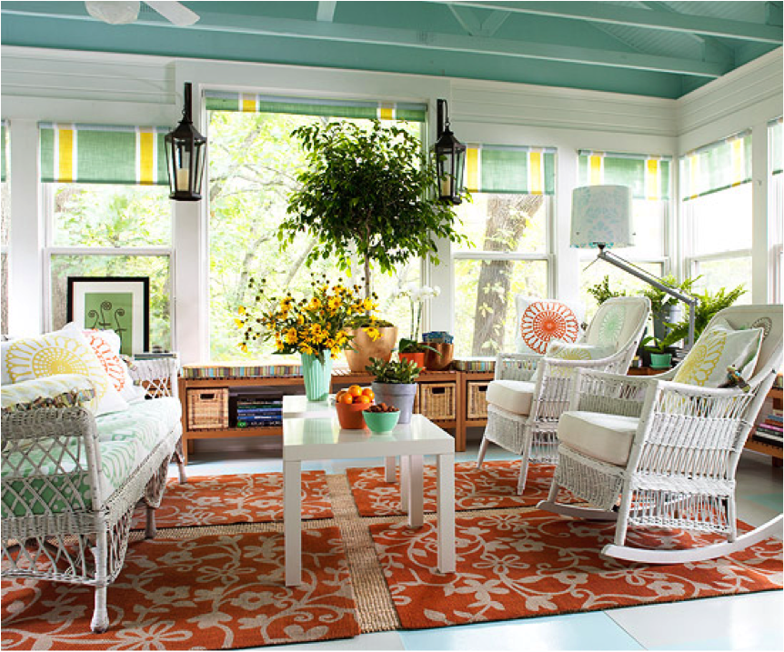 Small Sun Room Furniture Ideas