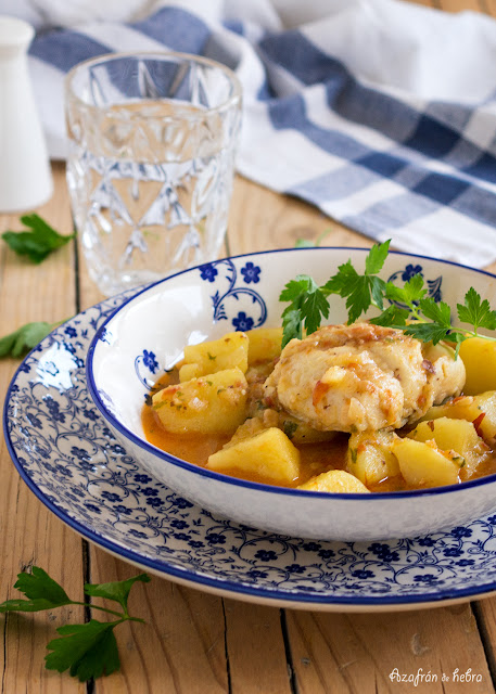 Cazuela de merluza y patatas