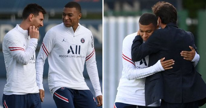 Pictures: Mbappe spotted hugging Leonardo amid exit rumours