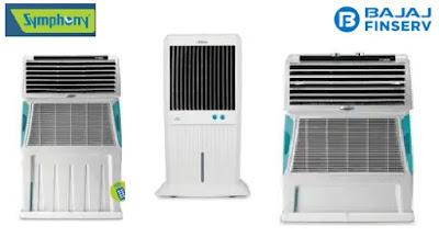 symphony air coolers at no cost emi on bajaj finserv estore,