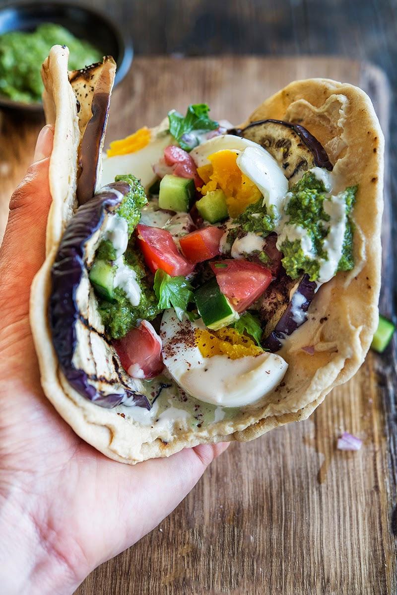 Sabih A Middle Eastern Inspired Vegetarian Sandwich