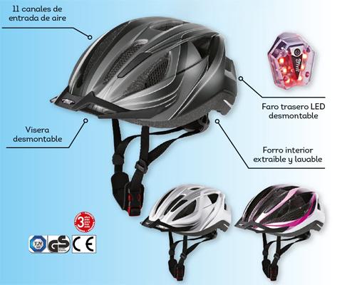 casco de ciclismo Lidl señora caballero y niño