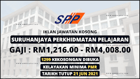Iklan Jawatan Kosong Terkini SPP, Kelayakan Minima Pmr & Gaji Rm1,216 - Rm4,008. Mohon Sekarang!