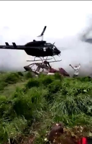 OH NO! Man Who Escaped Helicopter Crash Gets Sliced To Death During Rescue By Another Chopper