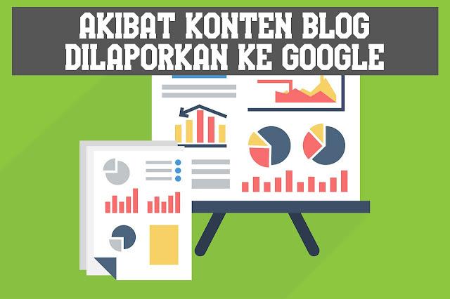 Akibat Konten Blog Dilaporkan Ke Google