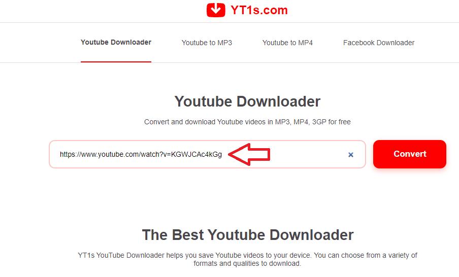 Công cụ tải nhạc và video từ YouTube YT1s
