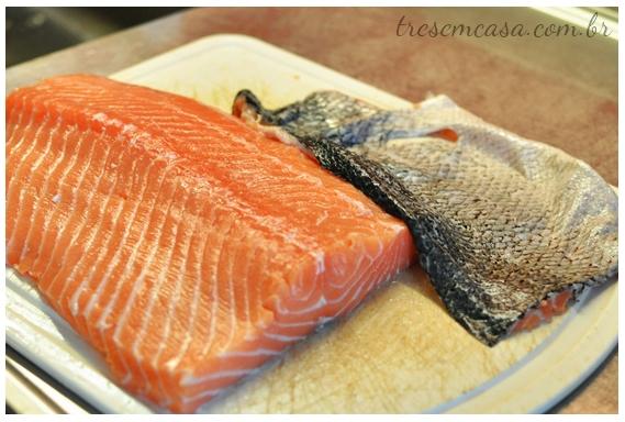 sashimi de salmão passo a passo