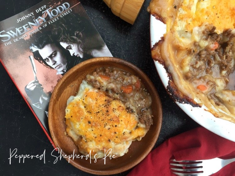Peppered Shepherd's Pie Sweeney Todd #FoodnFlix