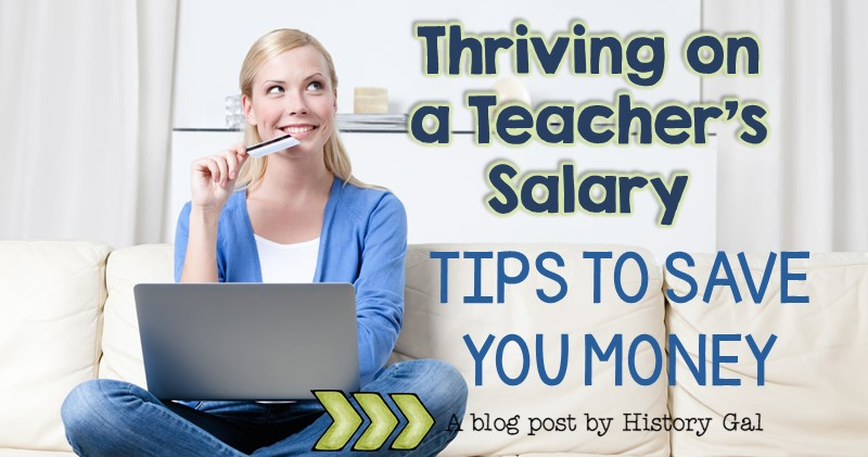 Woman at computer - Thriving on a Teacher Salary by History Gal