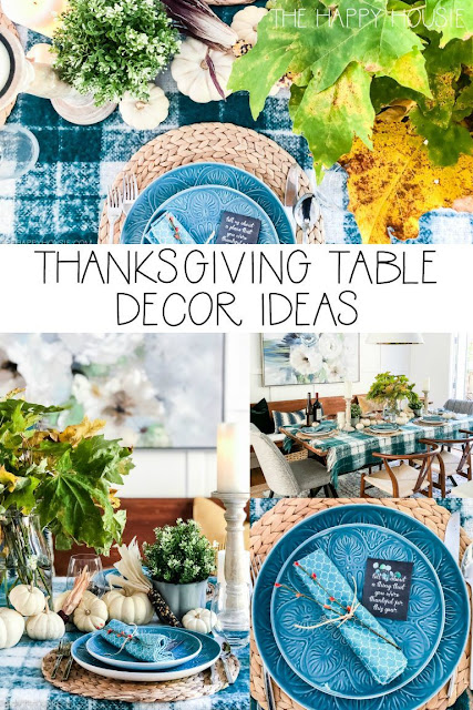 Thanksgiving Table Decor Ideas with free printable conversation cards
