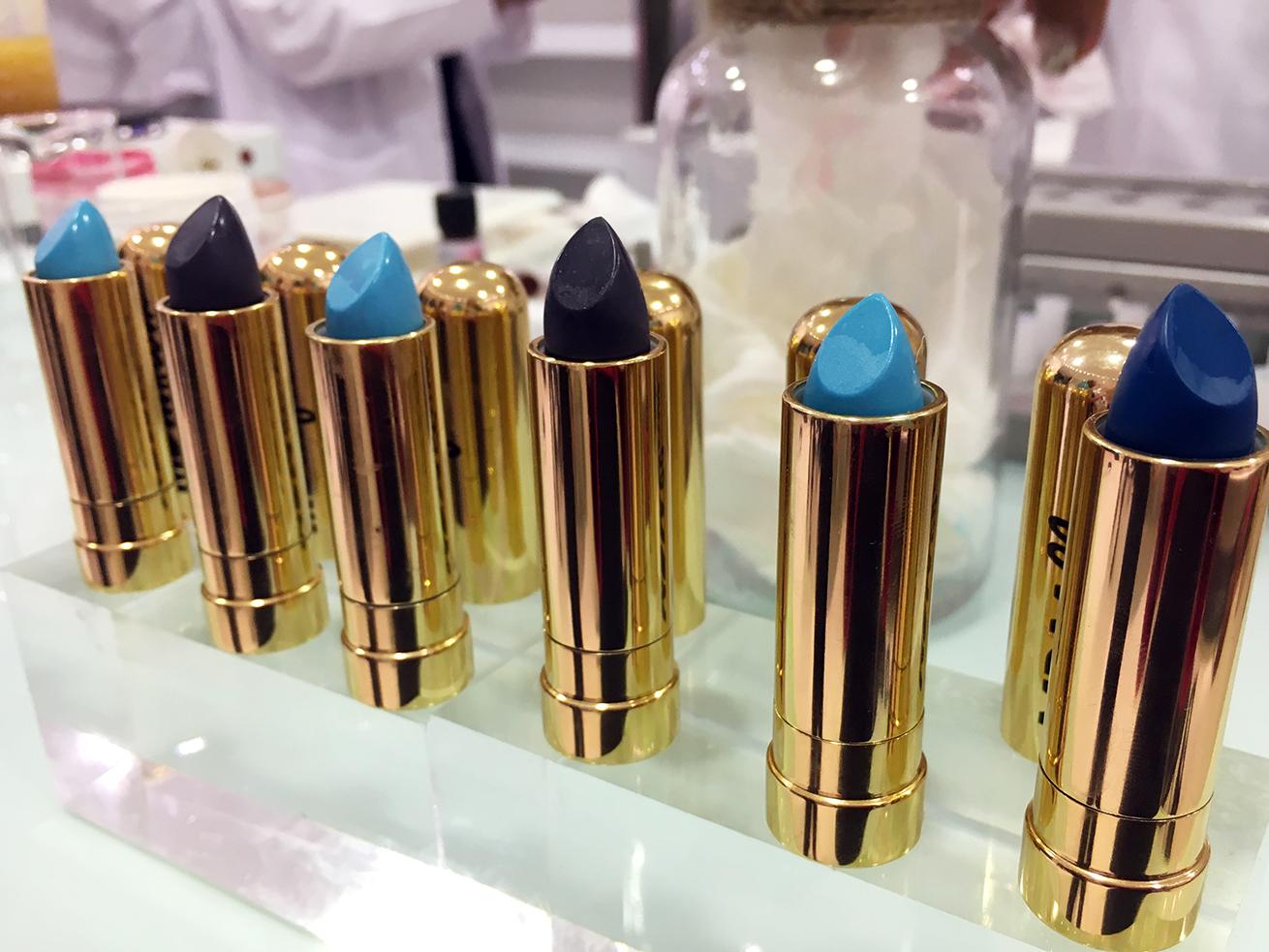blue, navy, black lipstick MDMFlow
