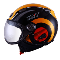 Helm KYT Elsico Seri 1 Black Orange