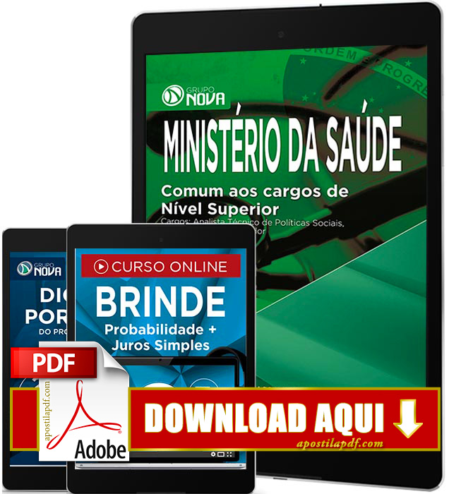 Apostila Ministério da Saúde 2017 PDF Download Administrador e Contador
