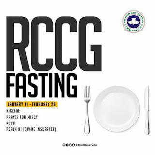 Prayer Points for RCCG Fasting Saturday 22nd February 2020  DAY 43