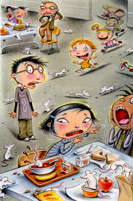 Debbie Palen Illustration: CHAOS IN THE CAFETERIA