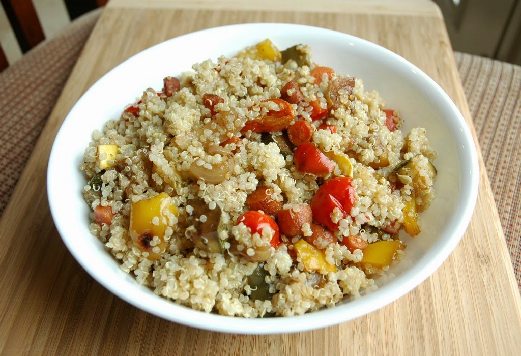 Roasted Vegetable Quinoa- vegetarian, gluten free recipe