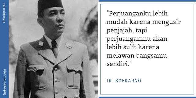 Quotes presiden pertama Indonesia