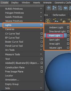 Point light, Directional lights, Area lights, Volume light, Spot light.