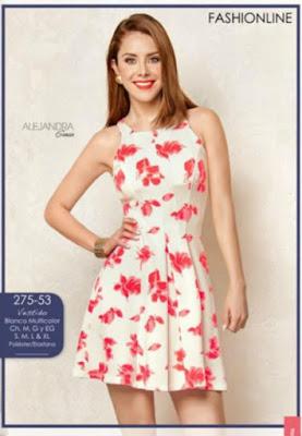 vestidos rayas y flores 2016