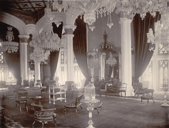Durbar Hall of Bangalore Palace, from Curzon Collection's 'Souvenir of Mysore Album', 1890