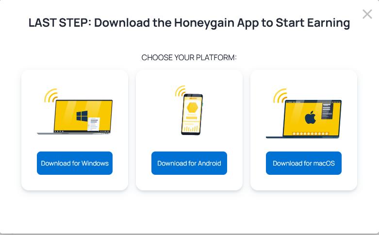 Honeygain App Install