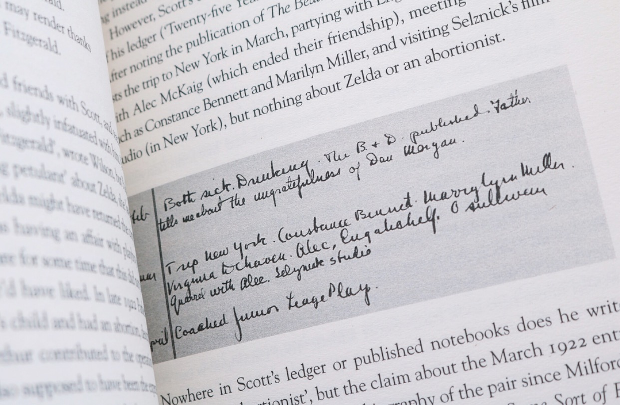 Book: Written Ledger account of Fitzgerald's life