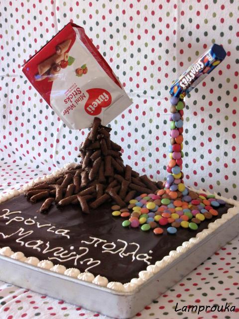 Εντυπωσιακή τούρτα βαρύτητας.