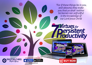 Do You want to Experience Productivity at its Peak? Everyone of us want to live productive lives, we want our growth chart of life to be always on the forward and upward movement, we want to be successful in everything we do. Get that important key for Persistent Productivity from Pastor Chris Oyakhilome in his new release today
