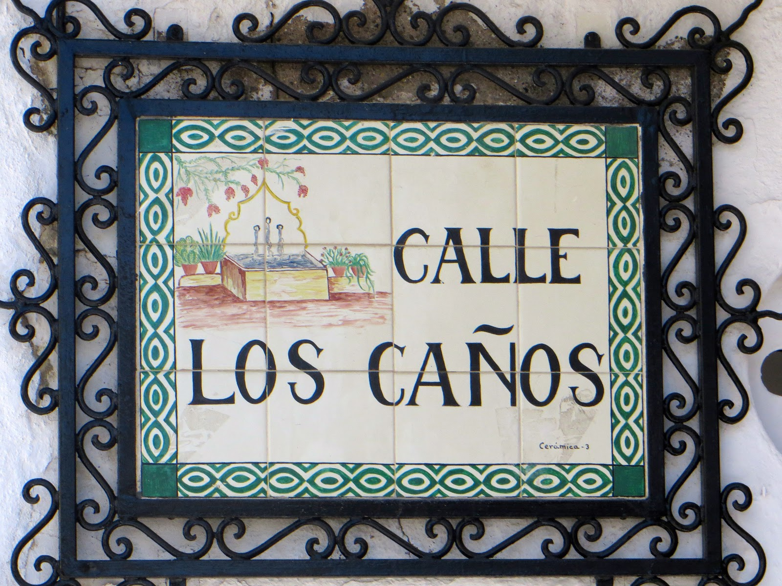 street sign in Mijas
