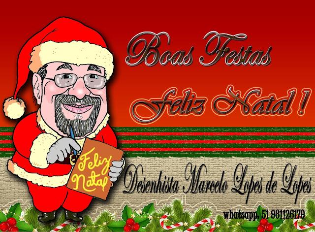 Boas festas e feliz Natal do Desenhista Marcelo Lopes de Lopes
