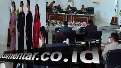 Paripurna DPRD Pengusulan Pemberhentian Walikota dan Wakil Walikota Bitung Periode 2016 - 2021