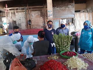 171 Orang Pedagang Pasar Sebaung Dirapid Tes, Hasilnya   Negatif