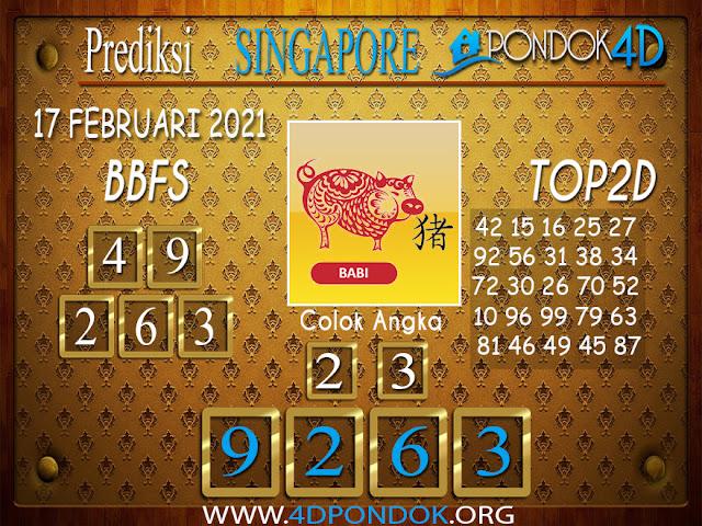 Prediksi Togel SINGAPORE PONDOK4D 17 FEBRUARI 2021