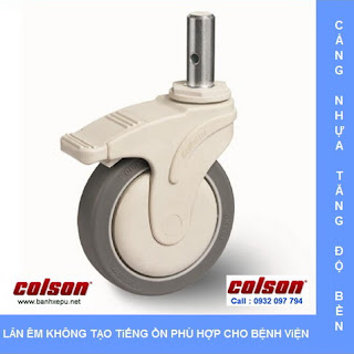 Bánh xe đẩy cao su STO trục trơn chịu tải trọng (80~100kg) www.banhxepu.net