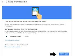 Gunakan phone sebagai langkah masuk akun