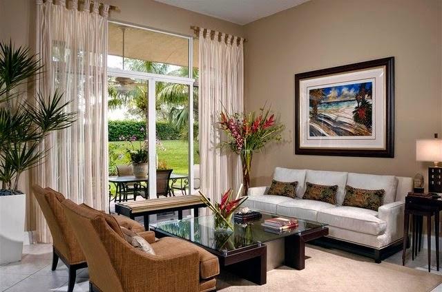 diff rent style rideau salon rideaux et voilages. Black Bedroom Furniture Sets. Home Design Ideas